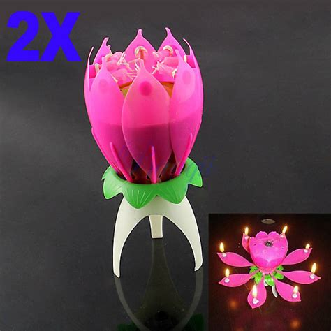 lotus flower birthday candle 2x blossom lotus flower candle birthday