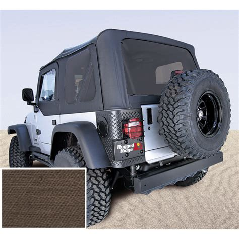 Jeep Soft Top Windows Soft Top Khaki Tinted Windows 03 06 Jeep Wrangler Tj