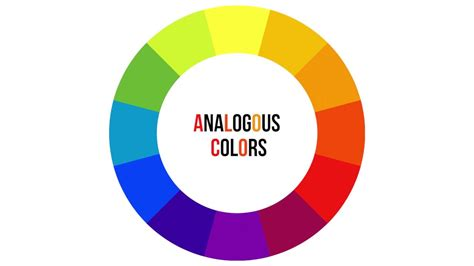 what is analogous colors analogous colors vocab definition