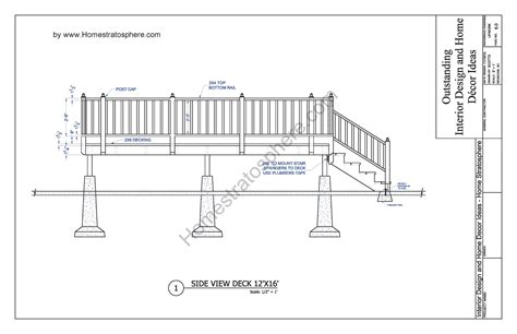 deck house plans free 12 x 16 deck plan blueprint with pdf document