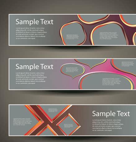 design elements banner banner design elements abstract vector 05 vector banner