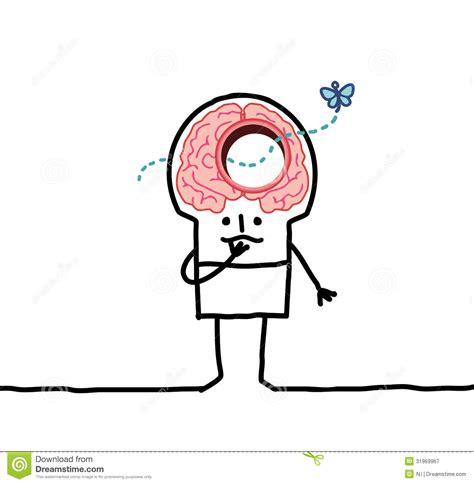 Big Brain Man Memory Desorders Stock Vector Big Brain Pricing