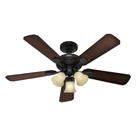 Black Ceiling Fan With Light Kit shop rolling oaks 48 in midas black multi position