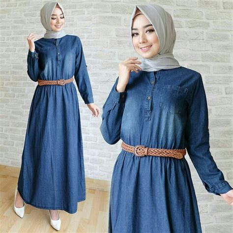 Dress Fashion Cewek 2 In 1 Set jual maxi trendy najla set 2in1 dress busui dan belt