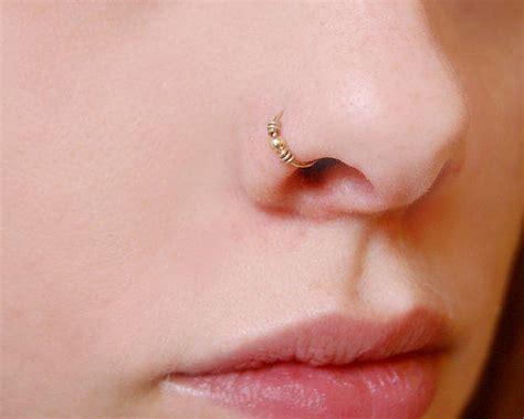 trendy gold hoop nose piercing rings trends4us