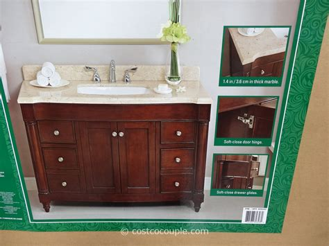 lanza bathroom vanities costco lanza products 48 inch single sink wood vanity