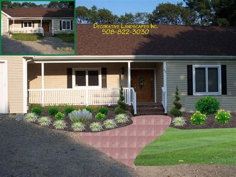 home and yard design front yard landscaping for ranch style house landscaping
