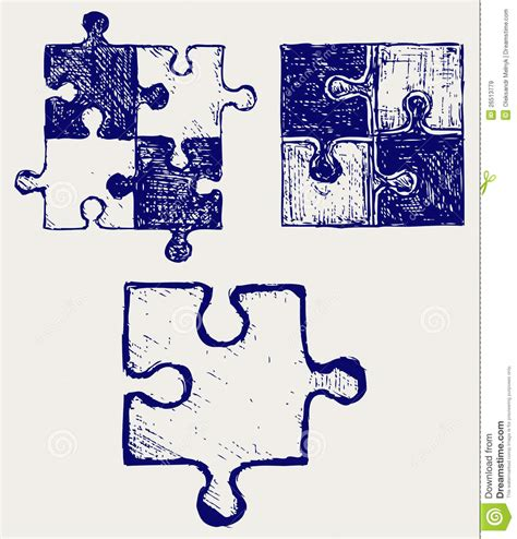 doodle do puzzle puzzle sketch royalty free stock images image 26513779