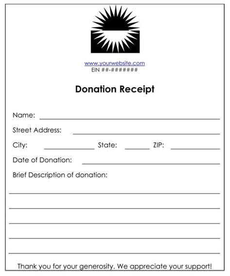 6 or funds donation receipt templates word templates
