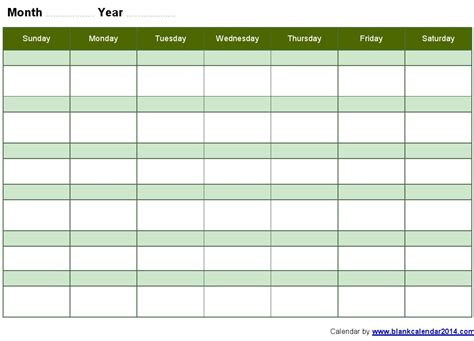 blank month calendar template printable month calendar sheets calendar template 2016