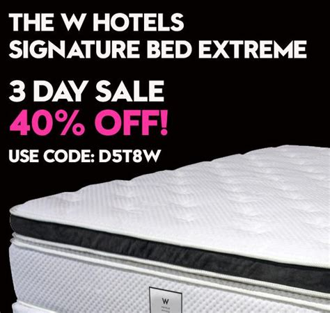 W Hotel Mattress by W Hotels Bed 40 Plus Free Delivery 3 Days Only