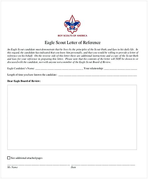 letter of recommendation for eagle scout template eagle scout letter of recommendation sle from parents