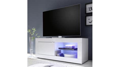 Le De Salon A Poser 7481 by Meuble Tv 140 Cm Laqu 233 Blanc Avec Leds Lernig Small
