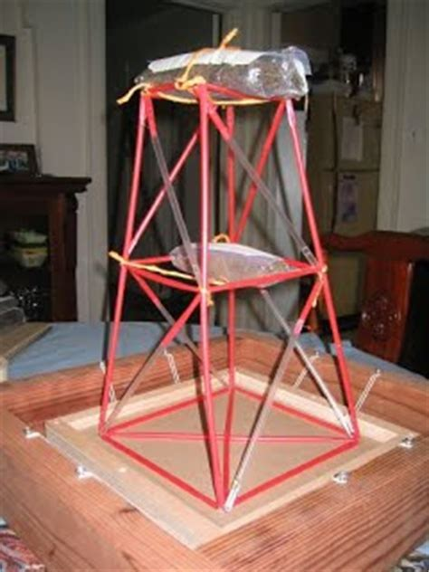 How To Make A Water Tower With Paper - straw tower project ty portfolio larkin