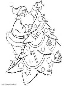 how to decorate a coloring page of a turkey santa claus decorate christmas tree