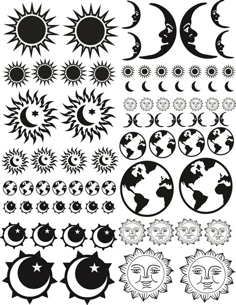 sandblasting templates earth sun moon blasting stencils abr imagery inc
