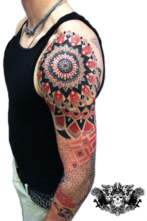 dotwork tattoos and geometric tattoos kline family ink