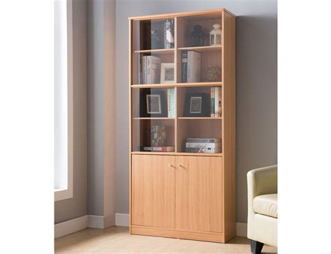 bookcase with sliding glass doors bruno bookcase with sliding glass door
