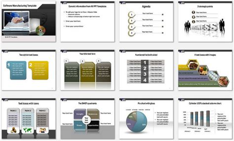 Powerpoint Software Manufacturing Template Manufacturing Program Template