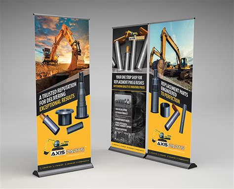 banner design on behance get axis parts pull up banner design on behance
