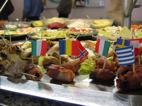 global cuisine international cuisine paper flags in some of the