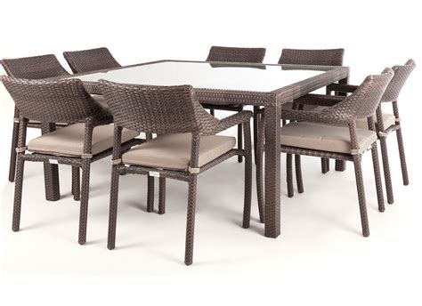 outdoor dining table for 8 nico square glass top patio dining table for 8 ogni