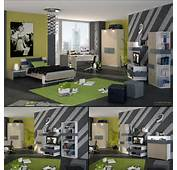 Modern Boys Room With Wall Decors And Green Themed – Feg Teen