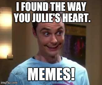 Jules Meme - sheldon cooper smile imgflip