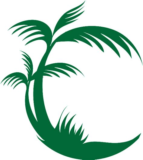 Teal And Yellow Home Decor palm tree removable wall decal signs 4 half