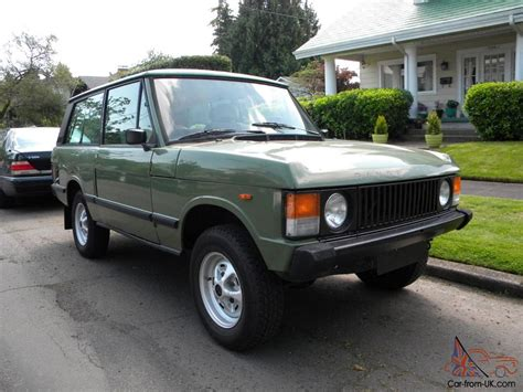 green range rover classic 1983 range rover classic 2 door lhd v8 manual transmission