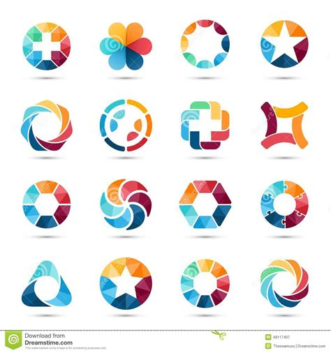 color symbolism for svg and css color names in shades of logo set circle signs and symbols stock vector