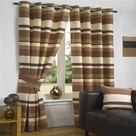 brown and cream striped curtains luxury curtains modern striped lined eyelet brown cream