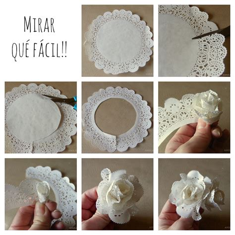 How To Make Flowers Out Of Paper Doilies - una pizca de hogar las mejores ideas para decorar con
