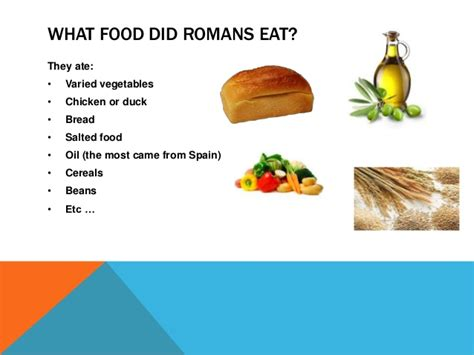 what the romans did roman food