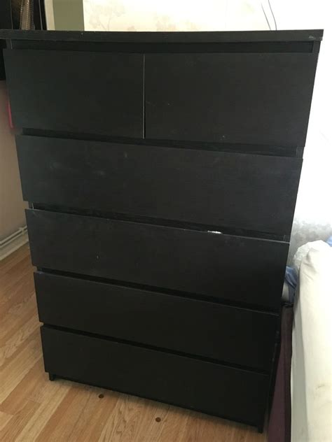 ikea malm chest of drawers black brown ikea black chest