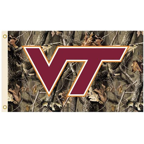 bsi products ncaa 3 ft x 5 ft realtree camo background virginia tech flag 95411 the home depot