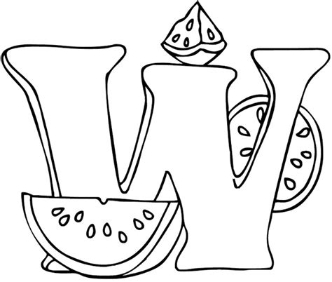 free coloring pages of the letter w