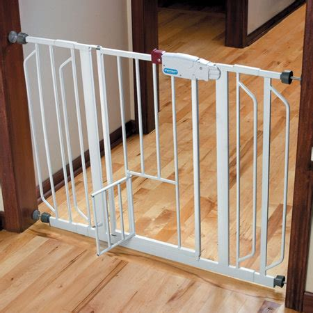 Gate With Pet Door by Pet Gates With Small Door Walk Through Pet Gate