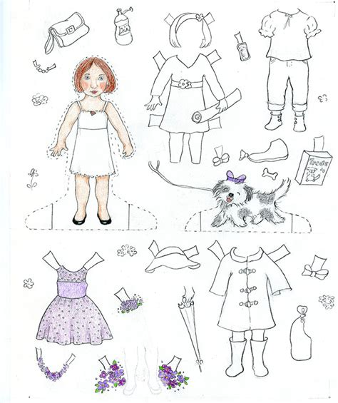 A Paper Doll - how to make paper dolls at home