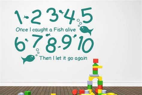 Wall Borders Stickers 1 2 3 4 5 once i caught a fish alive wall stickers uk art