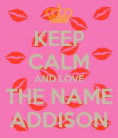 Wall Stickers Names keep calm and love the name addison keep calm and carry