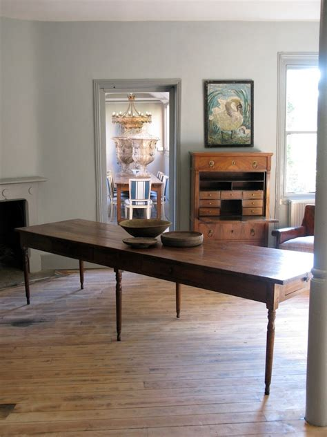 large  cent french farmhouse antique dining table