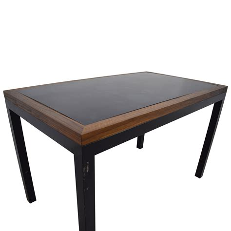 and black table 90 black wood and metal table tables