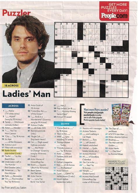 Magazine Crossword Puzzles Printable