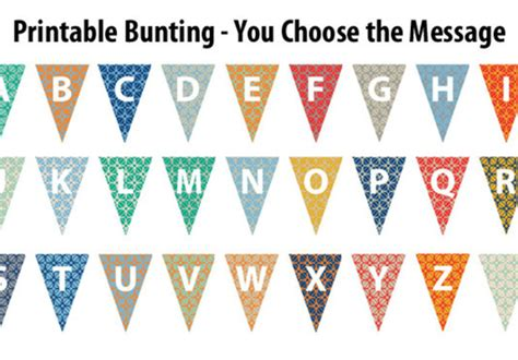 printable bunting letters create a downloadable printable bunting banner with any