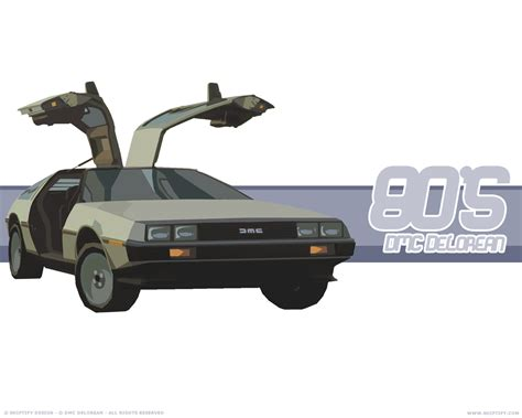 what year is the delorean from back to the future delorean back to the future wallpaper 13787284 fanpop