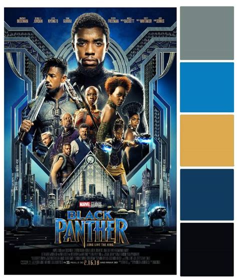 what color is a panther wakanda wedding black panther poster palette