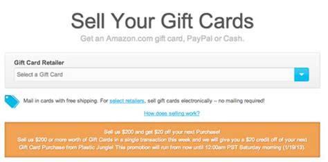 Plastic Jungle Gift Card - plastic jungle 20 bonus credit promotion on your next purchase