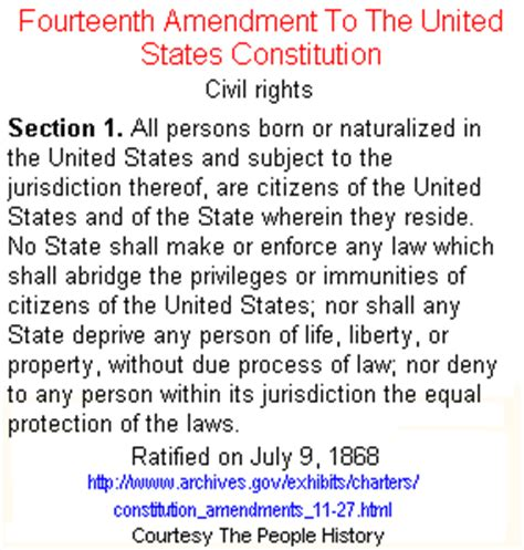 Us Constitution Section 1 by A Perspective On Our Constitution The Fourteenth Amendment