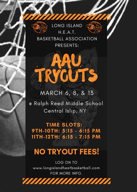 Long Island Heat Boys Tryouts Grades 5 12 Basketball Tryout Flyer Template